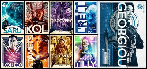 Star Trek Discovery Cast posters