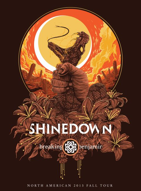 Shinedown & Breaking Benjamin – North American 2015 Fall Tour Poster | 2015