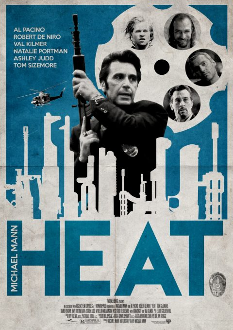 Poster design for 'Heat'.