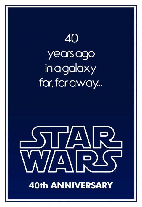 40 years ago in a galaxy far far away…