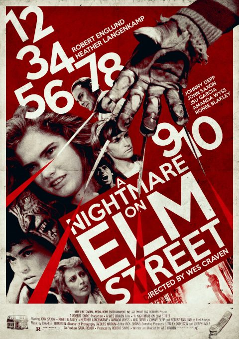 A Nightmare on Elm Street Retro Poster Design