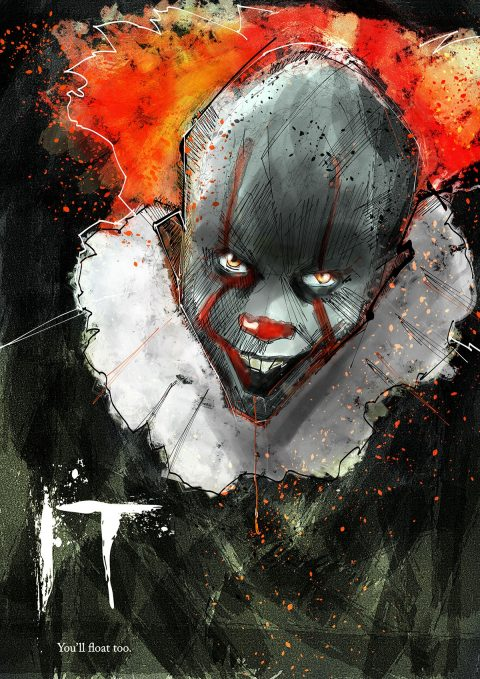 Pennywise IT Digital Illustration…