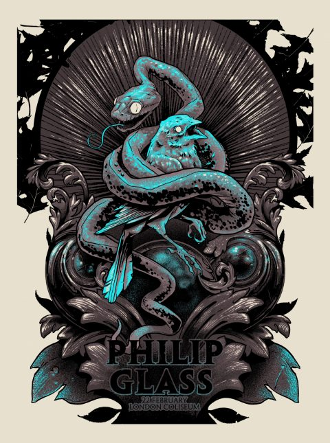 Philip Glass Gig Poster