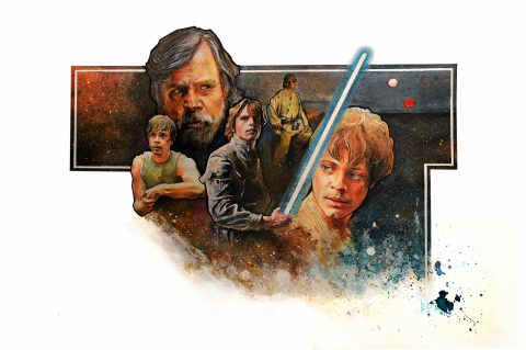 Star Wars Luke Skywalker Concept Poster