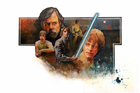 Star Wars Luke Skywalker Concept Poster