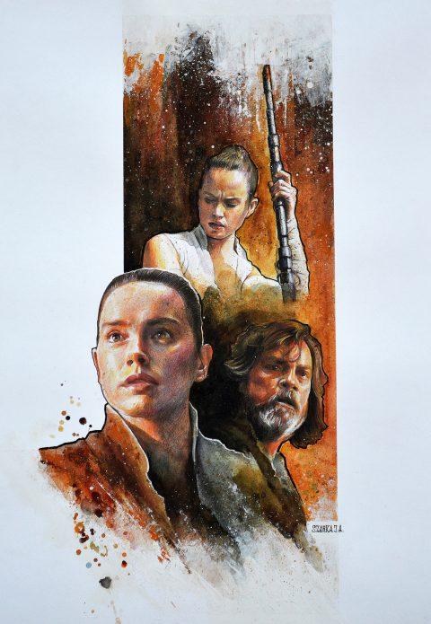 Star Wars Rey Concept Poster