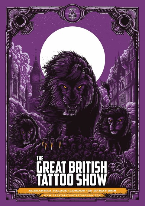 The Great British Tattoo Show Convention – Poster Commission | 2017