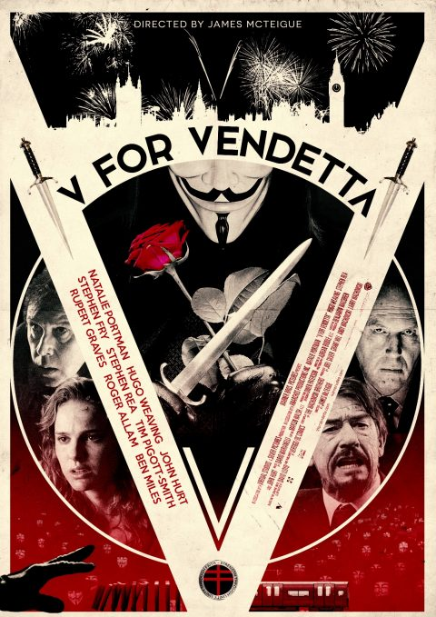 V for Vendetta Alternative Film Poster Design
