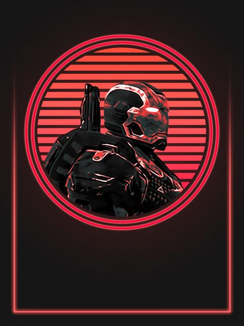 War Machine 80's Character Poster