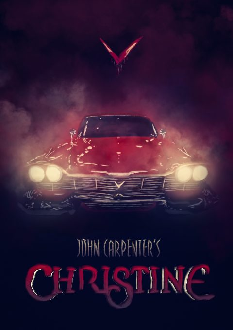 Christine / Digital painting Poster alternatif
