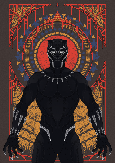 Black Panther Motion Poster