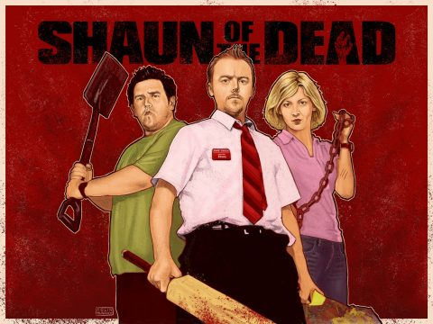 Shaun of the Dead alternative movie poster