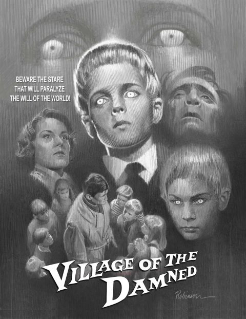 "Comp for Tribute Poster for ""Village of the Dead"" (1960)"
