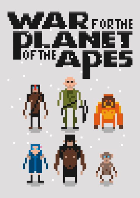 War for the Planet of the Apes Pixelstyle