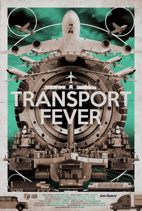 Official Poster Design for 'Transport Fever'.