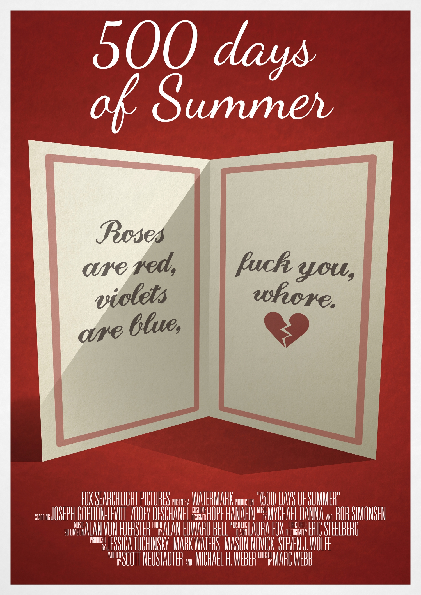 500 Days Of Summer Valentines Card Posterspy