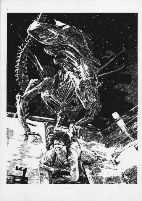 Alien Queen vs Ripley