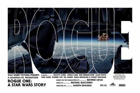 Rogue One: A Star Wars Story Alternative Movie Poster Vader Variant