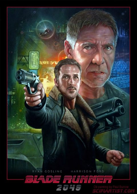 Blade Runner 2049 oil painting