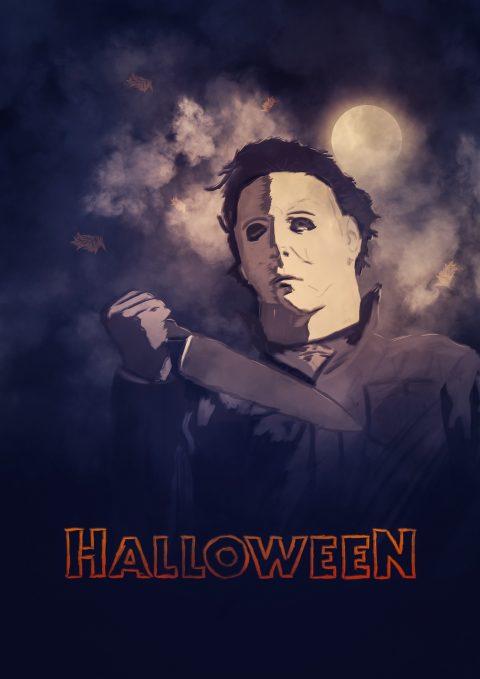 Halloween / Digital painting alternative Poster