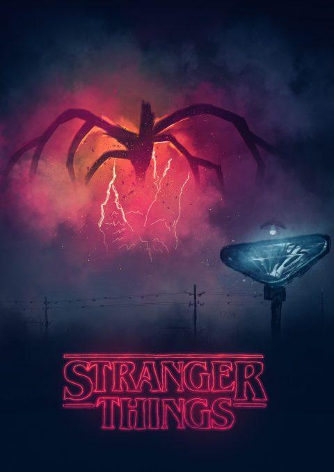 Stranger Things / Digital painting Poster alternatif