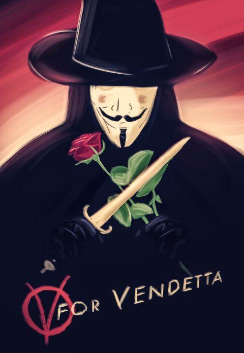 V For Vendetta / Digital painting Poster alternatif