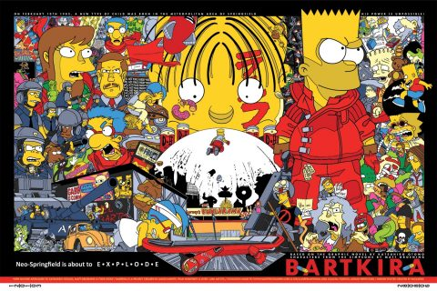 Bartkira (based on the famous Tyler Stout Akira print)