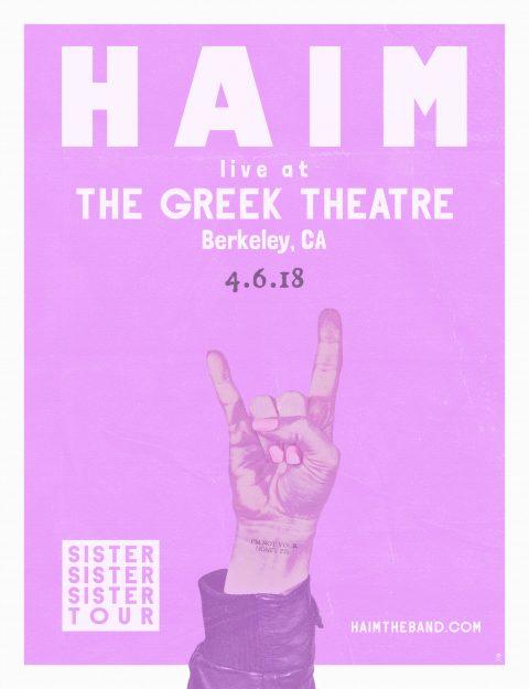 Haim concert poster
