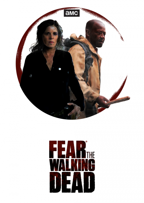 Fear the Walking Dead Colour Minimal Alternative Poster