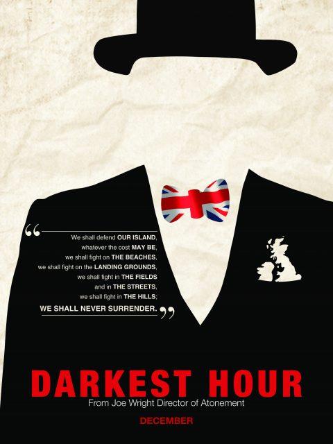 Movie Poster – Darkest Hour (w/Quote)