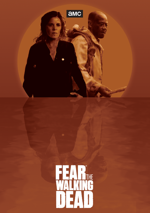 Fear the Walking Dead Tritone Alternative Poster