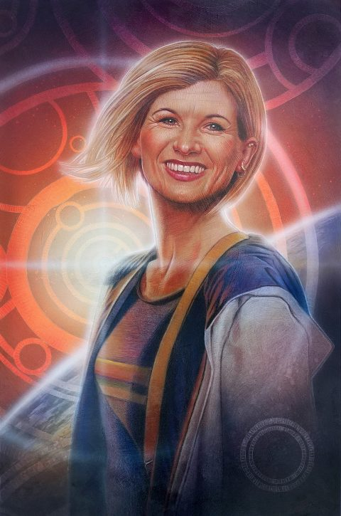 Jodie Whittaker as Doctor Who portrait painting