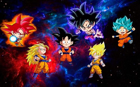 Goku Transformations chibi