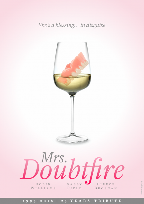 Mrs Doubtfire Tribute Poster