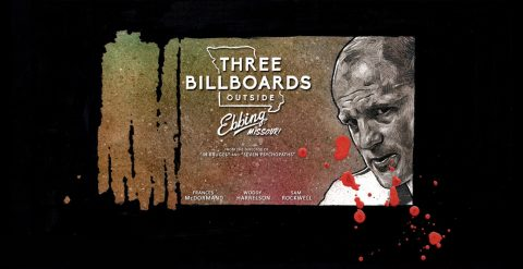 Alternative poster for Three Billboards Outside Ebbing, Missouri – third version