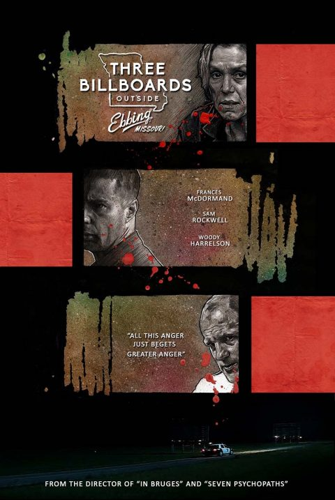 Alternative poster for Three Billboards Outside Ebbing, Missouri – complete version