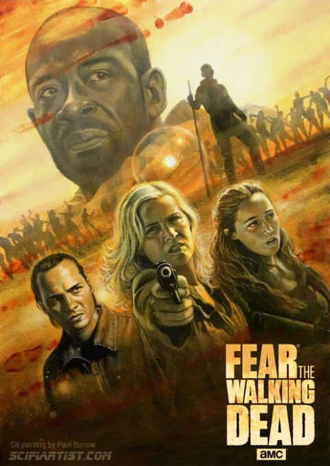Fear The Walking Dead oil painting