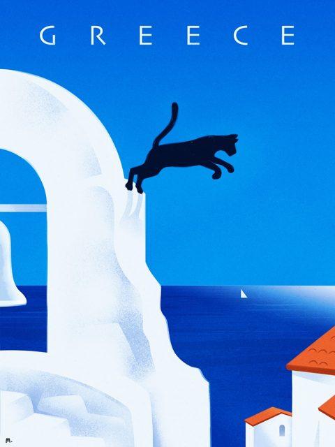 Greece Travel Poster
