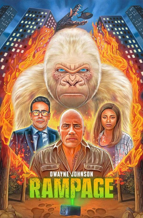 'Rampage' Illustrated Poster