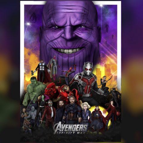 Marvels Avengers Infinity War Print Poster