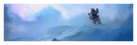 Luke on Tauntaun painting
