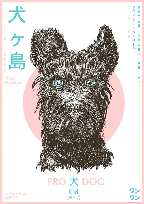 Isle Of Dogs Movie Poster Chief Posterspy