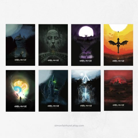 Limited Edition Harry Potter Movie Poster Set