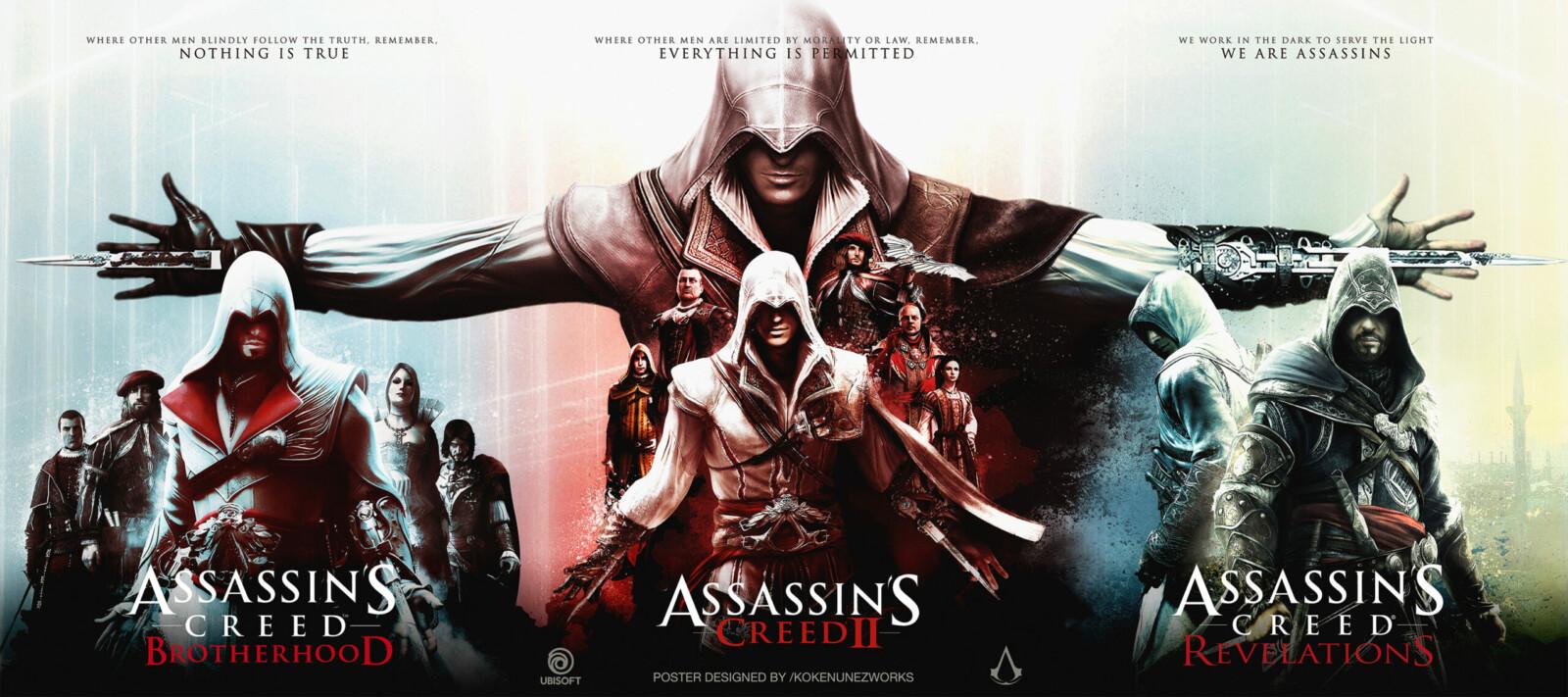 Assassin S Creed 2 Ezio S Trilogy Alternative Poster Posterspy