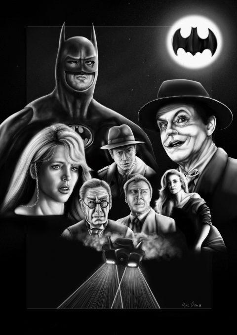 Batman 1989 B & W