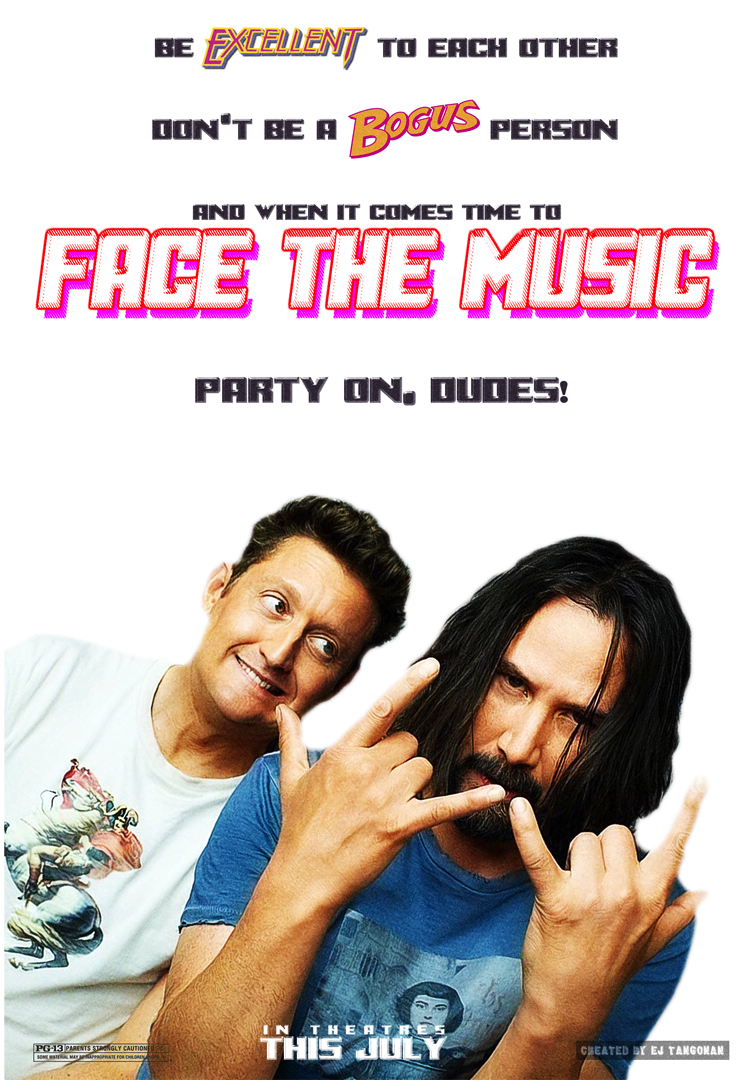 Image result for Bill & Ted Face the Music Poster