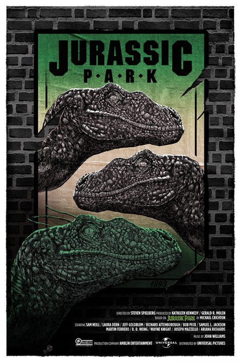 Jurassic Park ! (Green & Invisible variant)
