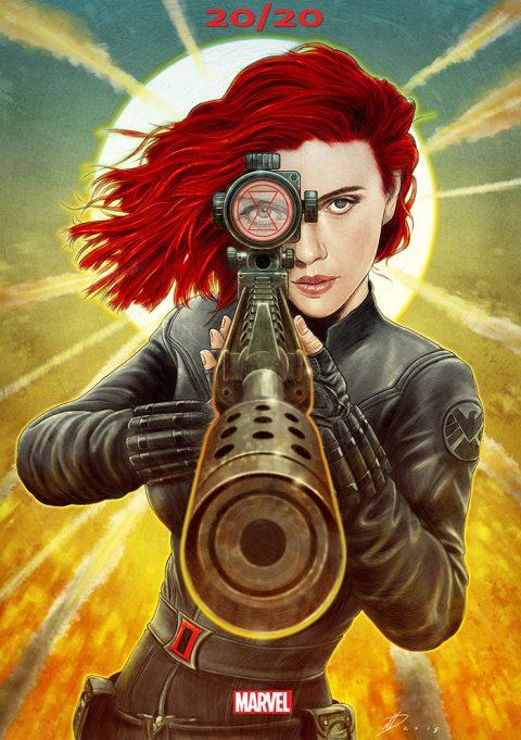 Black Widow alternative teaser poster