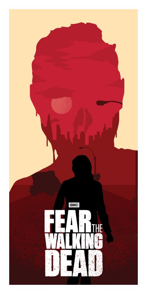 Fear The Walking Dead – Minimal Illustrated Poster 1