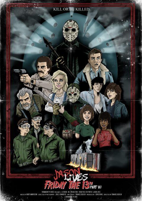 Friday the 13th part VI Jason Lives alternative movie poster
